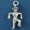 Gardening Charm Scarecrow for Farmers 3D Sterling Silver Pendant