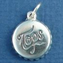 Soda Bottle Cap 3D Sterling Silver Charm Pendant