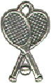 Tennis Rackets with Ball 3D Sports Sterling Silver Charm for Charm Bracelet