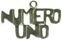 Numero Uno Word Charm and Message Phrase Sterling Silver Charm