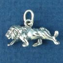 Lion Small 3D Sterling Silver Charm Pendant