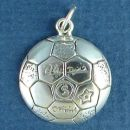 Soccer Ball Large Sterling Silver Charm Pendant