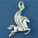 Pegasus Winged Horse Sterling Silver Charm Pendant