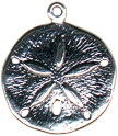 Sand Dollar 3D Sterling Silver Charm Pendant