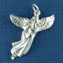 Flying Angel Charm Sterling Silver Pendant