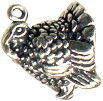 Turkey 3D Sterling Silver Charm Pendant