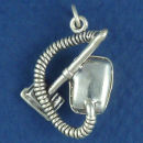 Vacuum Canister Style 3D Sterling Silver Charm Pendant