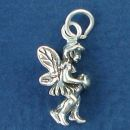 Fairy Setting 3D Sterling Silver Charm Pendant