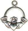 Claddagh Charm Irish Sterling Silver Pendant