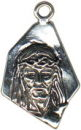 Religious Christian Jesus Head and Face Sterling Silver Charm Pendant