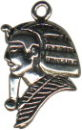 Egyptian King Silhouette Sterling Silver Charm Pendant
