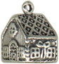 Christmas: Ginger Bread House Sterling Silver Charm Pendant