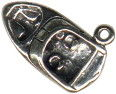 Boat with Inbord Motor Nautical Sterling Silver Charm Pendant