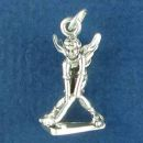 Putting Golf Guardian Angel Charm Sterling Silver Pendant