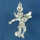 Soccer Guardian Angel Charm Sterling Silver Pendant