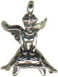 Gymnast Guardian Angel Charm Sterling Silver Pendant
