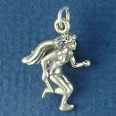 Running Guardian Angel Charm Sterling Silver Pendant