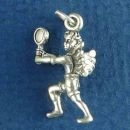 Tennis Guardian Angel Charm Sterling Silver Pendant