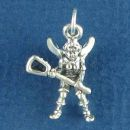 Lacrosse Guardian Angel Charm Sterling Silver Pendant