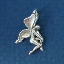 Fairy Curtsying Sterling Silver Charm Pendant
