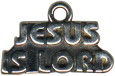 Religious Christian Jesus Is Lord Word Sterling Silver Charm Pendant