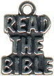 Religious Christian Read The Bible Word Sterling Silver Charm Pendant