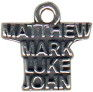 Religious Christian Mathew, Mark, Luke and John Word Sterling Silver Charm