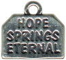 Religious Christian Hope Springs Eternal Word Sterling Silver Charm Pendant