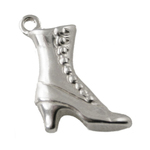 Ladies Dress Boot Sterling Silver Charm
