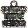 Christmas: Santa's Little Helper Sterling Silver Charm Pendant
