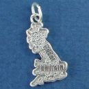 Travel: Great Britain Country Map Sterling Silver Charm Pendant