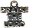 Religious Christian Praise The Lord Word Sterling Silver Charm Pendant