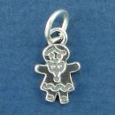 People: Girl Family Member Sterling Silver Charm Pendant
