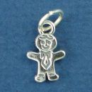 People: Boy Family Member Sterling Silver Charm Pendant