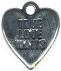 Heart, True Love Waits Sterling Silver Charm Pendant