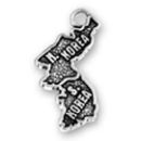 Travel: North Korea and South Korea Sterling Silver Charm Pendant