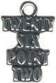Marathon Twenty Six Point Two Word Phrase Sterling Silver Charm Pendant
