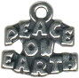 Peace On Earth Word Charm and Message Phrase Sterling Silver Charm for Necklace