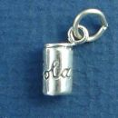 Cola Soda Can Sterling Silver Charm 3D Pendant