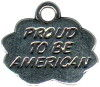 Proud to Be American Word Charm and Message Phrase Sterling Silver Charm for Necklace