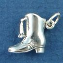 Drill and Dance Team Majorette Boot 3D Sterling Silver Charm Pendant