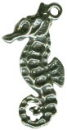 Seahorse Medium 3D Sterling Silver Charm Pendant