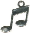 Music Note Medium Sterling Silver Charm