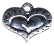 Heart within a Heart Sterling Silver Charm Pendant