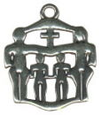 Religious Christian Family Sterling Silver Charm Pendant