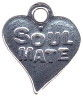 Heart, Soul Mate Sterling Silver Charm Pendant