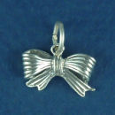 Bow 3D Sterling Silver Charm Pendant