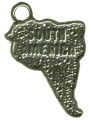 Travel: South America Sterling Silver Charm Pendant