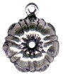 Kitchen: Bunt Cake Mold 3D Sterling Silver Charm Pendant