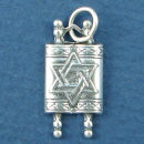 Religious Jewish Torah with Star of David Sterling Silver Charm Pendant